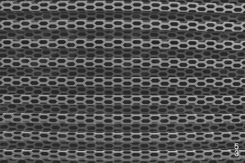 black and gray honeycomb-pattern textile photo