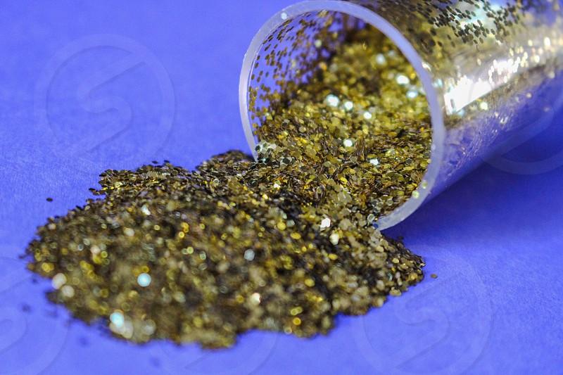 Gold Glitter. photo