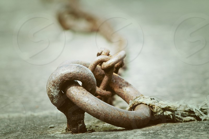 Vintage hook and chain photo