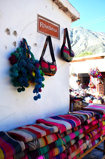 Souvenirs in Quebrada de Humahuaca Jujuy Argentina photo