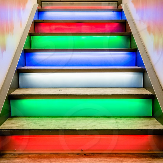 Colorful staircase photo