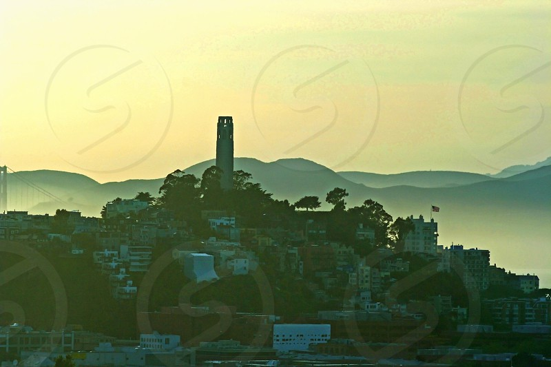 Coit Tower is a memorable landmark for visitors to San Francisco photo