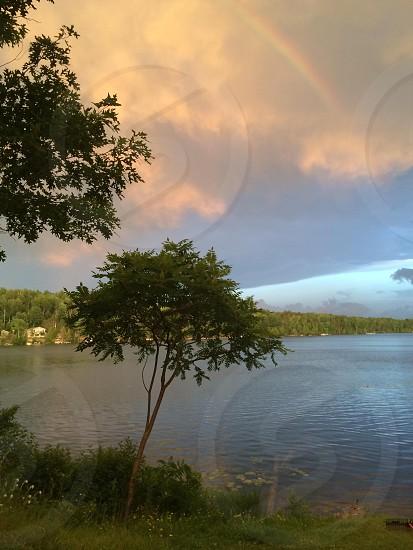 Evening at the lake photo