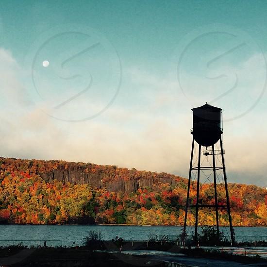 Water tower fall NY photo