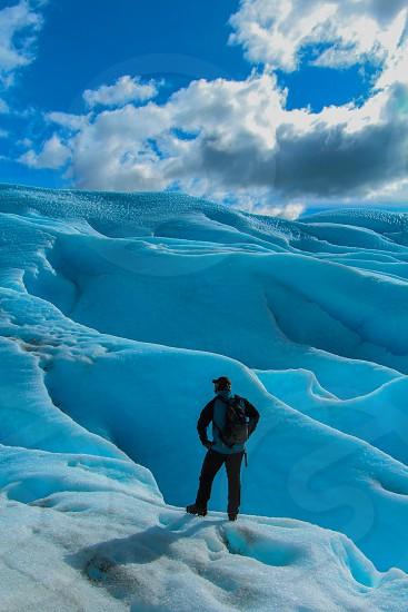 hiking glacier  photo