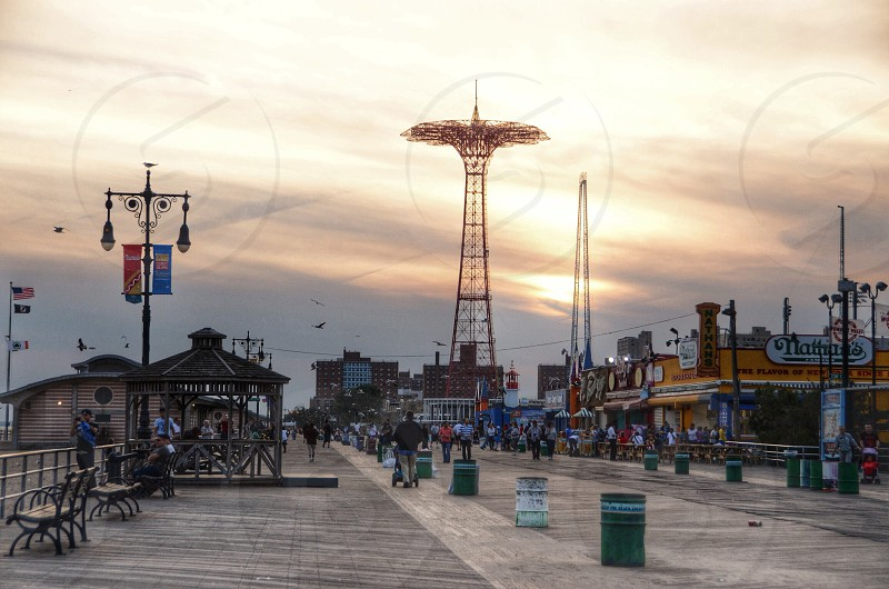 Coney Island Promenade. Brooklyn NYC. photo