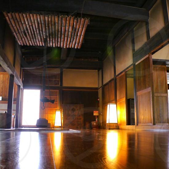 Japanese Living House Old Japan 日本家屋、炉辺の風景 photo