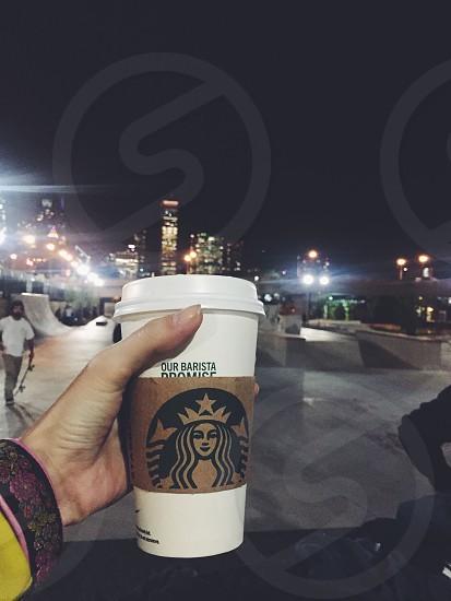 Coffee at millennium park in Chicago  photo