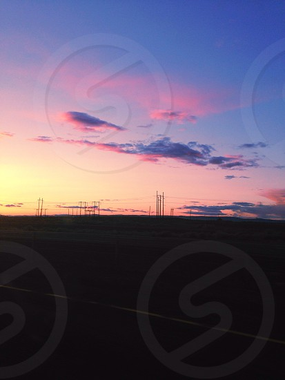 View of dawn skies photo