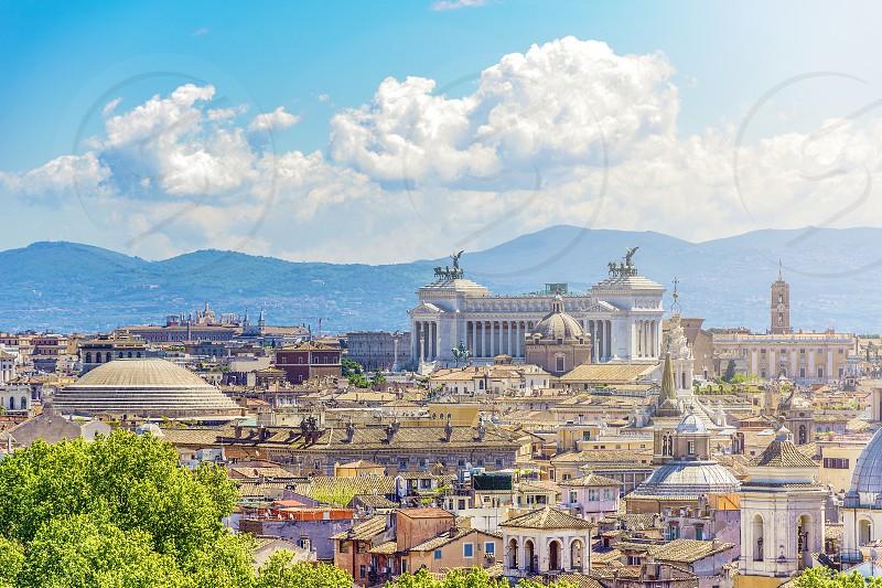 eternal skyline of Rome photo