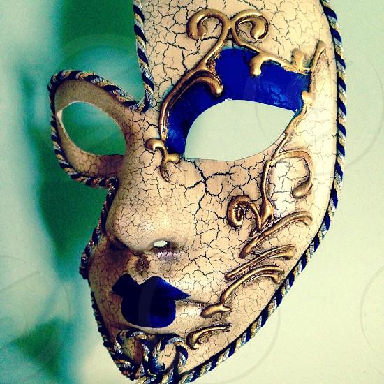 Shadow and Venetian Mask.  photo