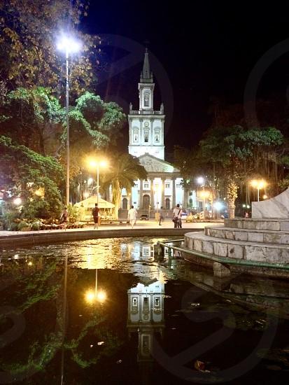 Church water  light  reflections photo