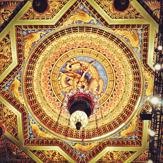 star patterned mosaic ceiling ornately decorated photo