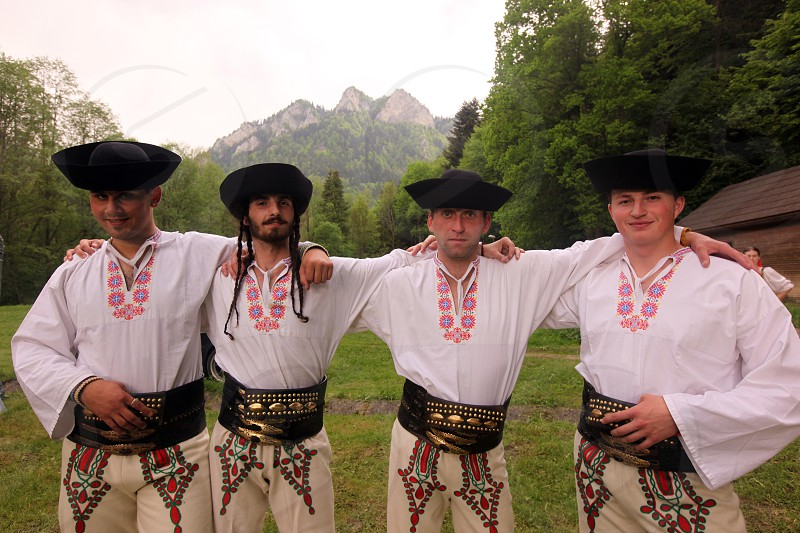 a traditional Folk Festival in the town of Cerveny Klastor in Slovakia in east europe.