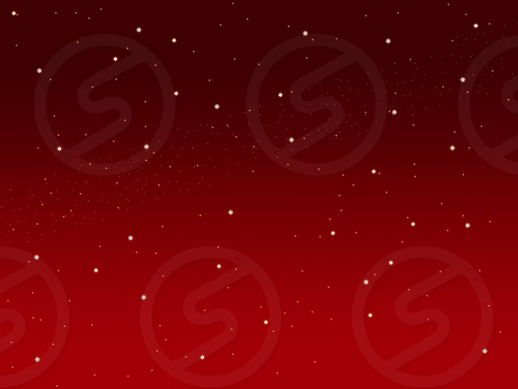 Christmas red sky illustration background with little stars space view     photo