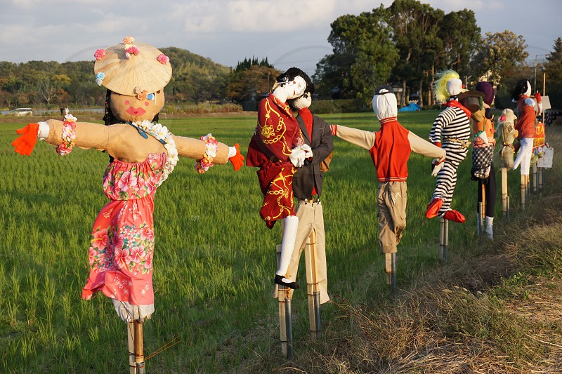 Scarecrow alley. Kyoto. Japan.  photo