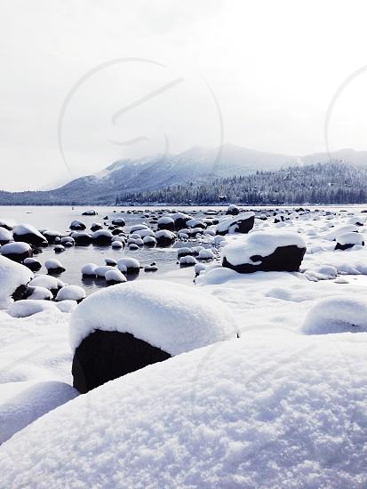 Lake Tahoe snow photo