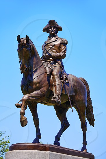 Boston Common George Washington monument at Massachusetts USA photo