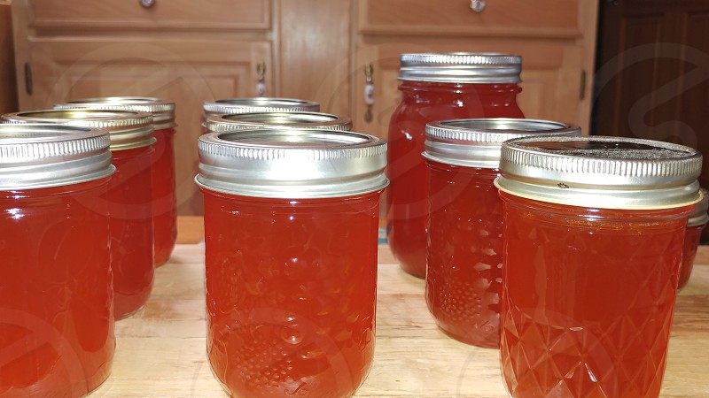 Preserves thankful red pepper jelly 9 jars table pantry photo