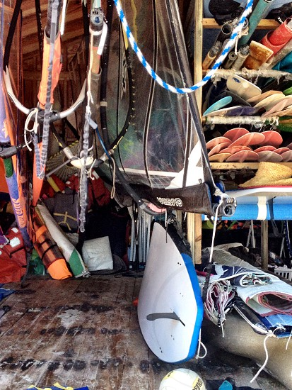 colorful adventure gear shed photo
