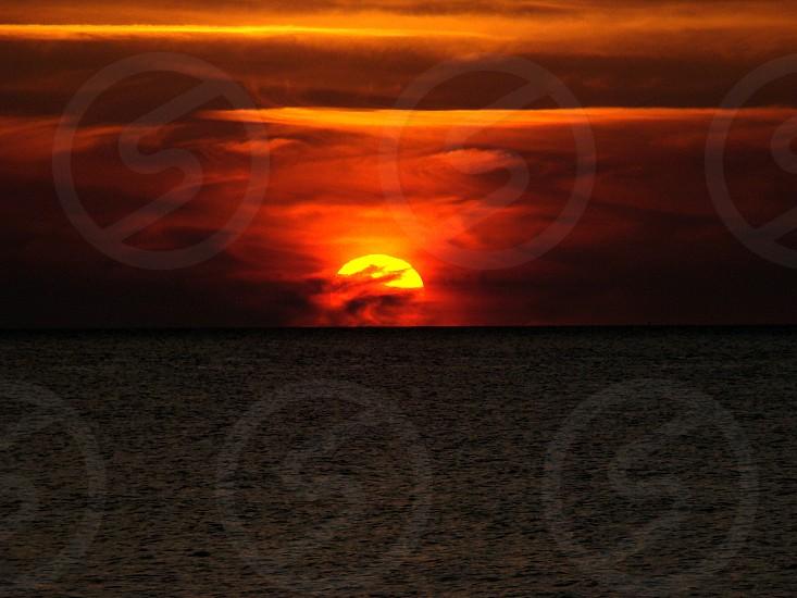 sunset like fire photo