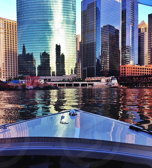 Chicago River Reflections  photo