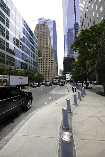 City street in NYC/North Battery Park City photo