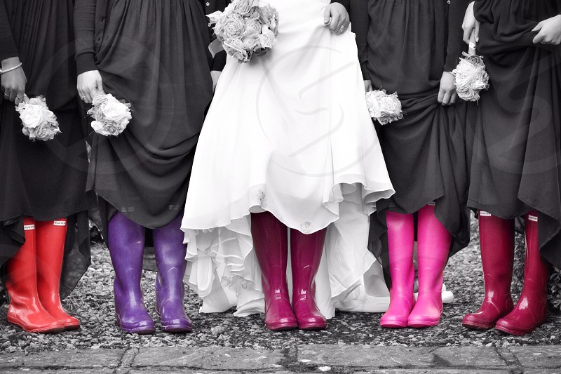 wedding colour friends boots funny photo
