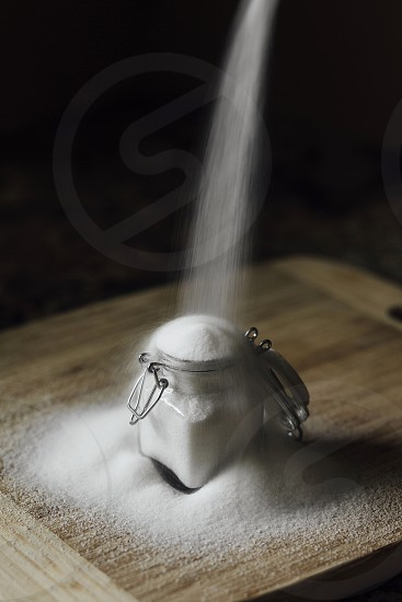 sugar sweet overdose over use jar kitchen too much pour fill photo