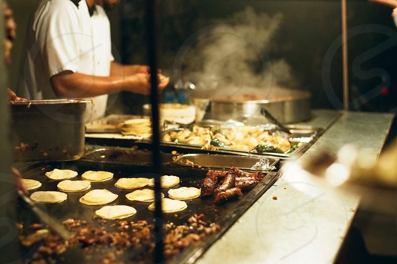 Late night street tacos. Street food. *Taken on 35mm Film* photo