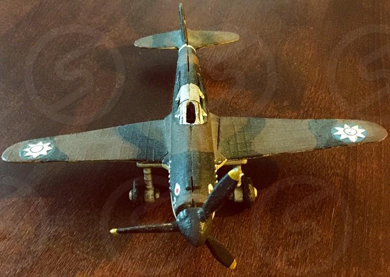 Antique toy plane photo