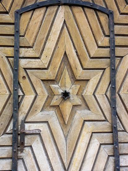 Wooden door Budapest photo