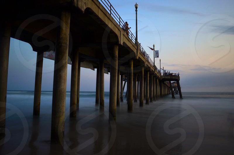 Wood pier photo photo