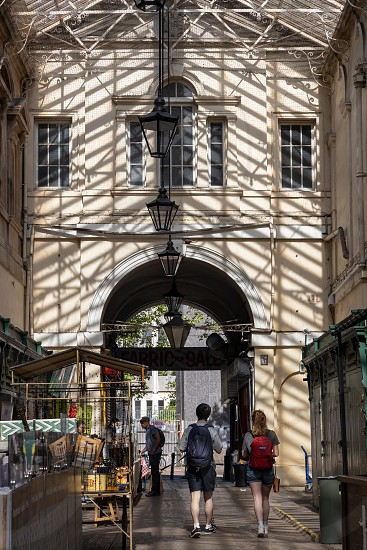 BRISTOL UK - MAY 14 : View of St Nicholas Market buildings  in Bristol on May 14 2019. Unidentified people photo