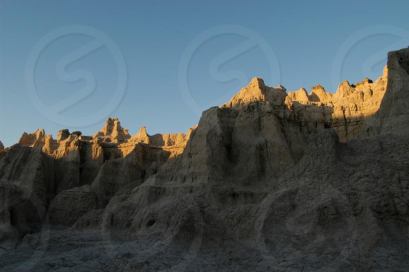 Badlands. Sunset.  photo