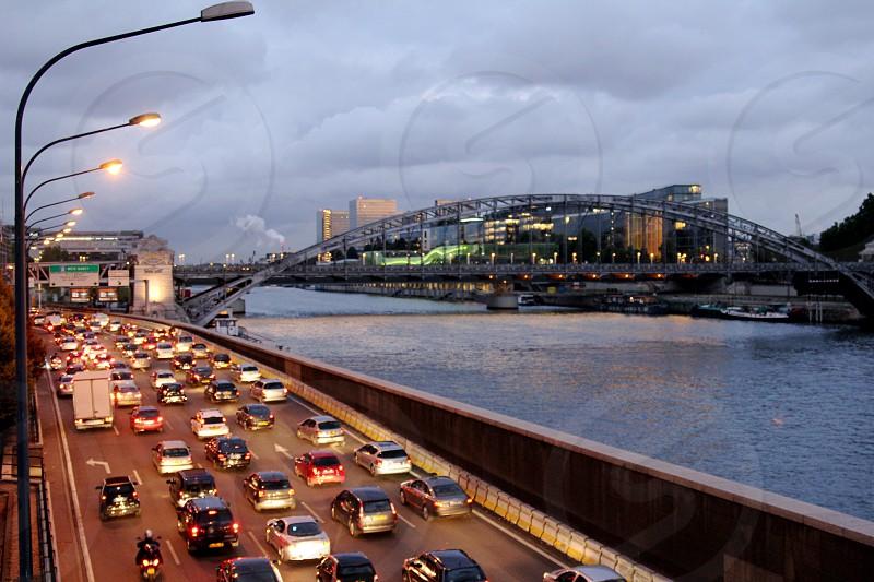 Traffic. Paris France.  photo