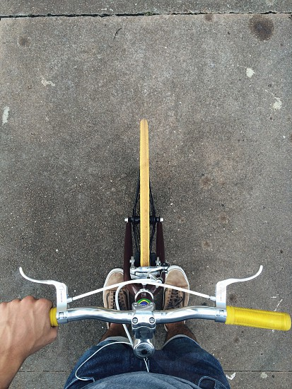person riding bicycle photo