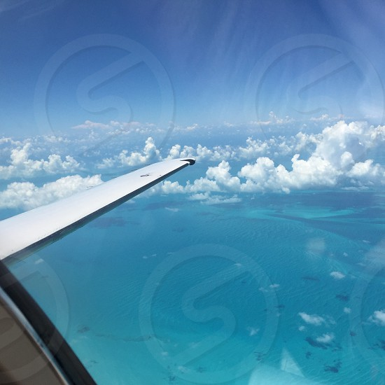 Travel airplane ocean leisure photo