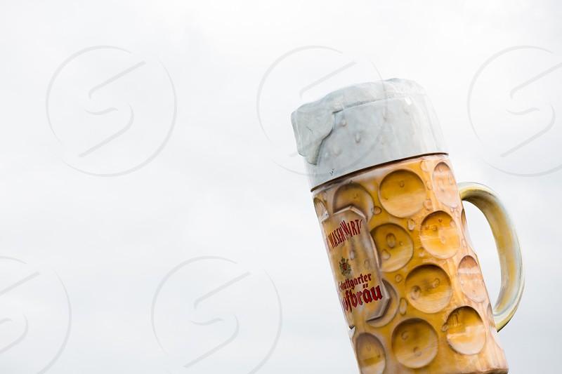 Stuttgart beer mug model on Cannstatter Wasen / Octoberfest photo