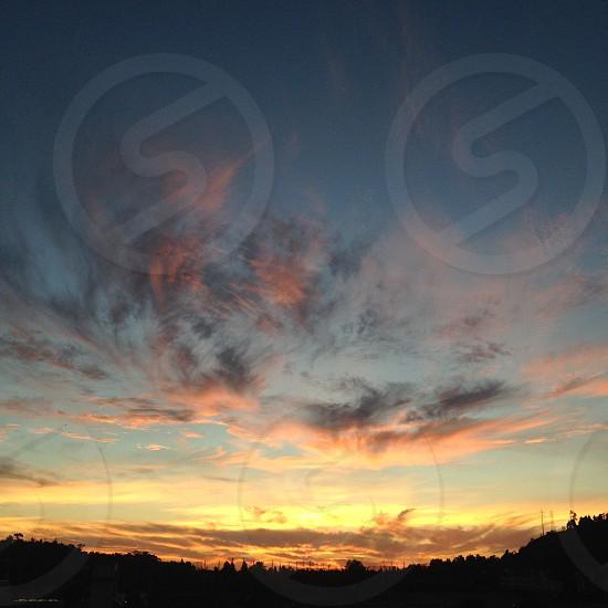 cumulus clouds view photo