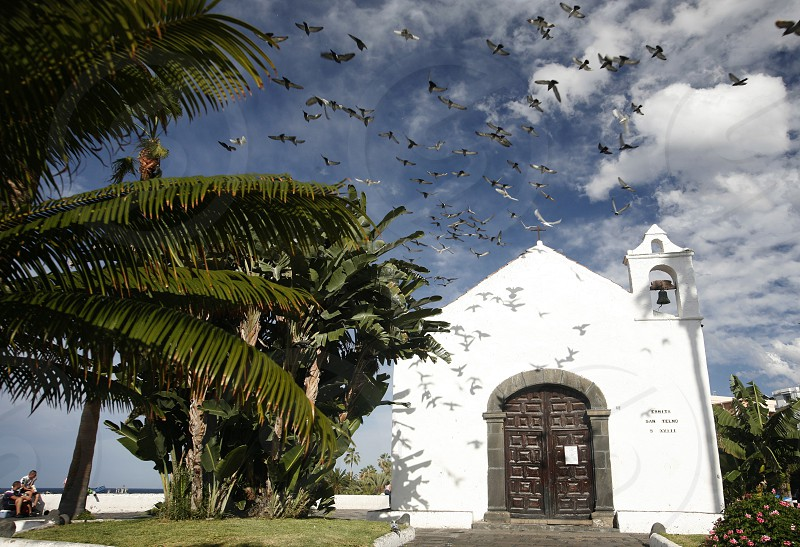 The Iglesia  San Telmo of  Puerto de la Cruz on the Island of Tenerife on the Islands of Canary Islands of Spain in the Atlantic.   photo