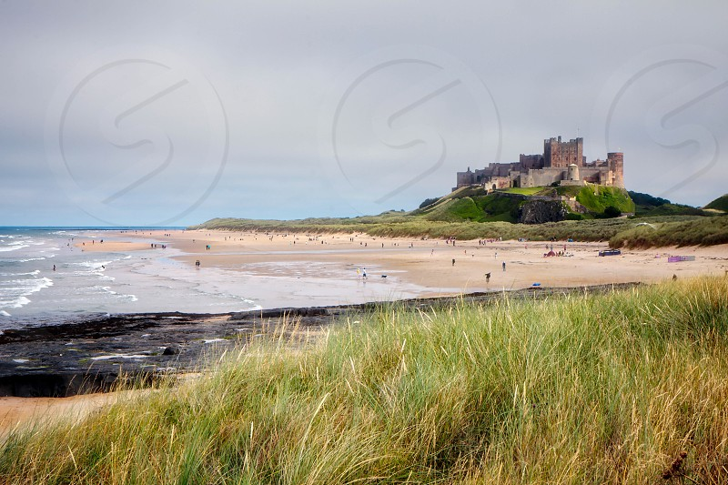 Vew of Bamburgh Castle in Bamburgh Northumberland photo