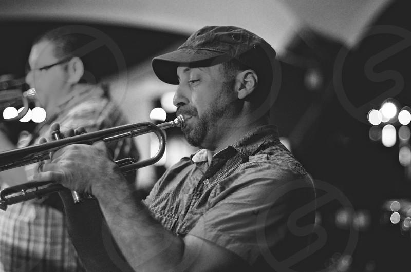 man playing trumpet photo
