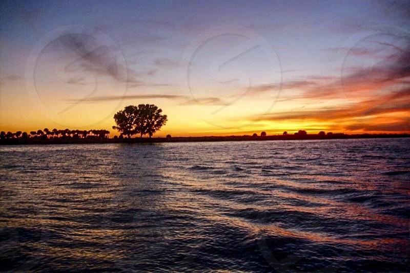 Florida sunset ocean travel  photo