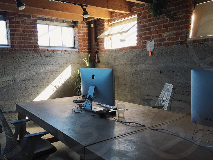 Office computer desk photo