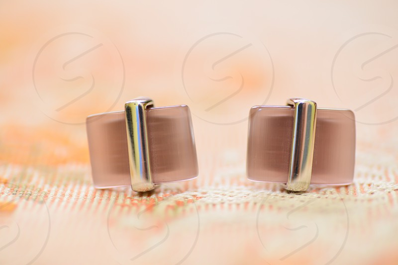 cufflinks isolated photo