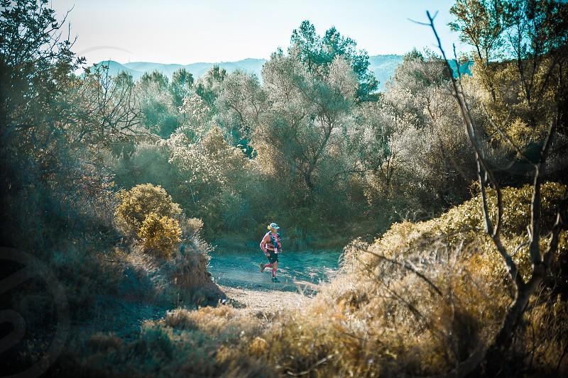 runner mountain run trail running travel nature sport and recreation landmarks landscape photo