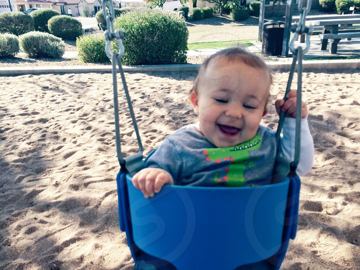 Grandson time at the park photo