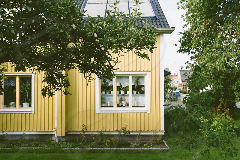 Exterior of a house in Jönköping Sweden. photo