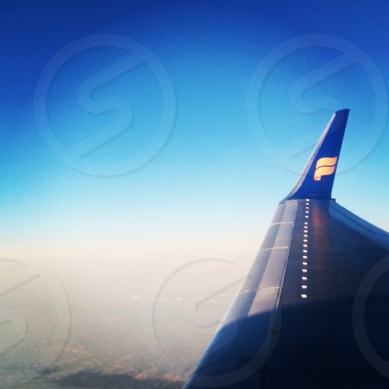 Sunrise on the plane with Icelandair! photo